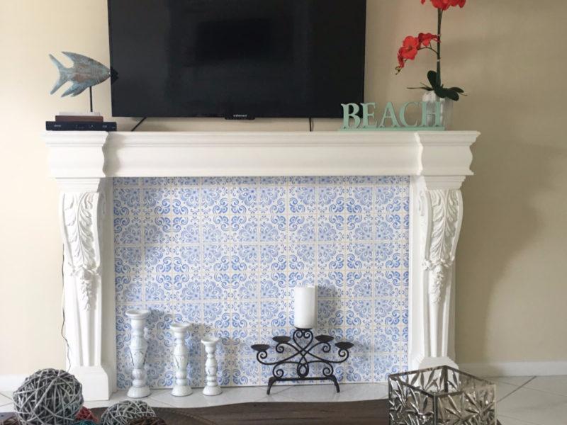 Portuguese Tile Fireplace