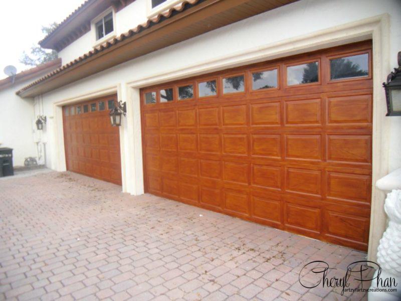 Garage Door Wood Grained