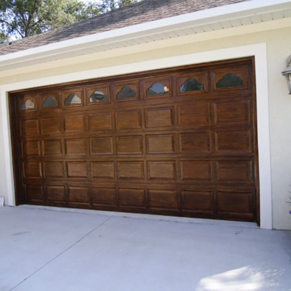 How to wood grain garage doors faux finish decorative for Wood grain garage doors