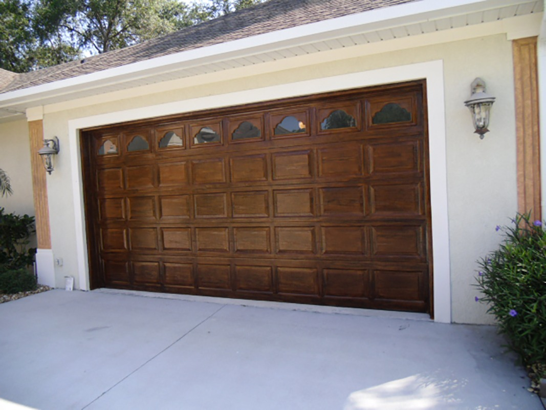 How To Wood Grain Garage Doors Faux Finish Decorative