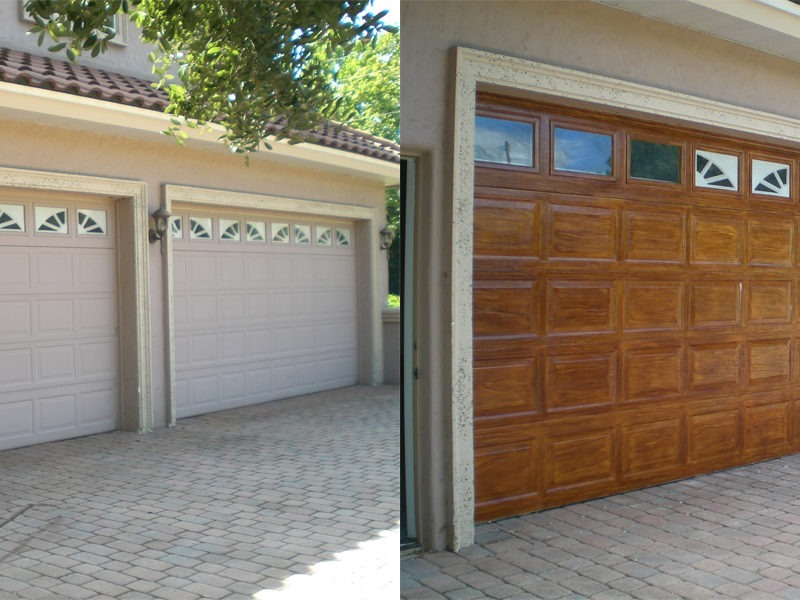 Faux finishing artzy fartzy creations for Wood grain garage doors