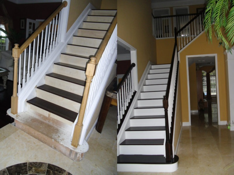 Wood Grained Stair Case