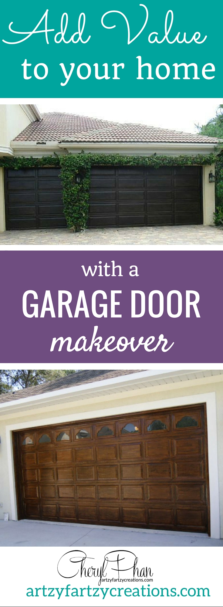Pin It Add instant value to your home with faux wood-grained garage doors