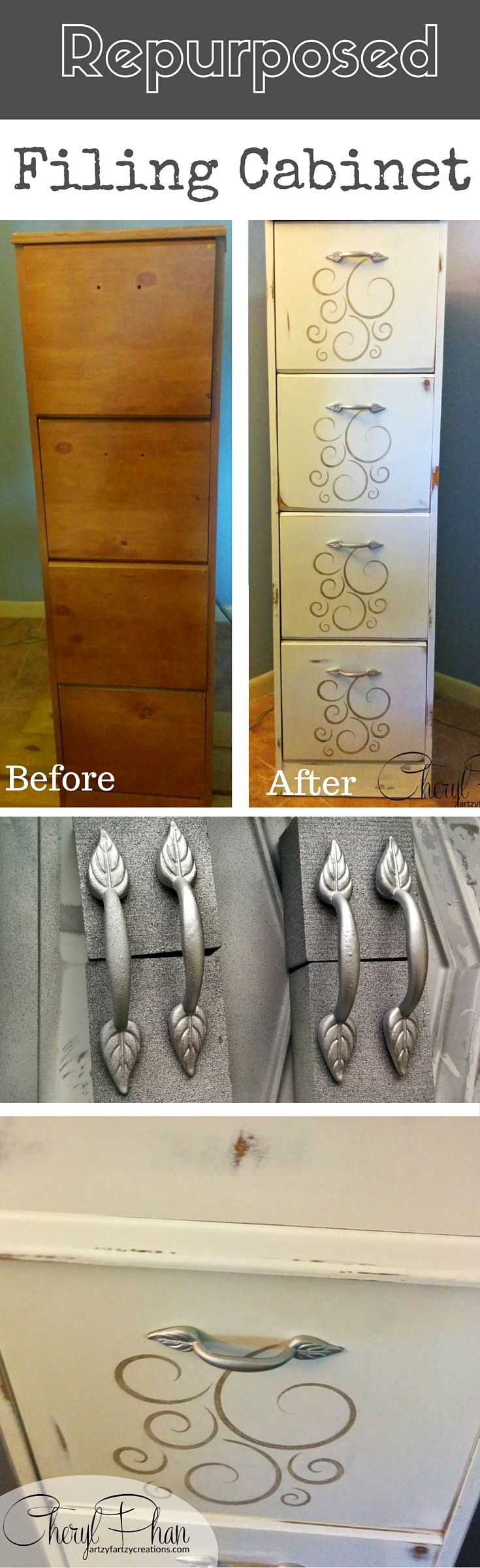 Pin: Repurpose an old Filing Cabinet