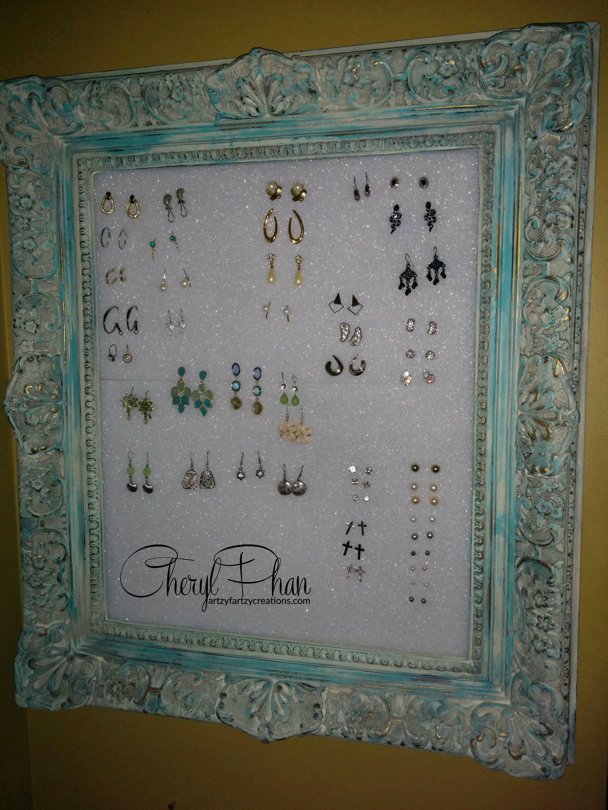 Best Earring Display Ever! | Faux Finish | Decorative Painting ...