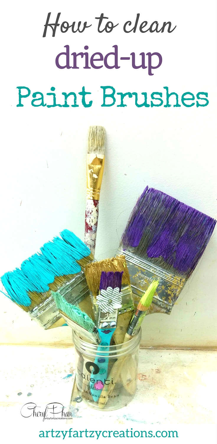 How to clean paintbrushes - How To Clean Dried Up Paint Brushes Painting Tips By Cheryl Phan Of Artzyfartzycreations