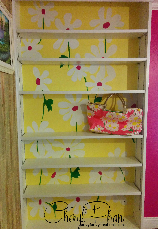 Lilly Pulitzer Themed Bookshelf | Faux Finish | Decorative Painting ...