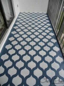 Porch Floor after