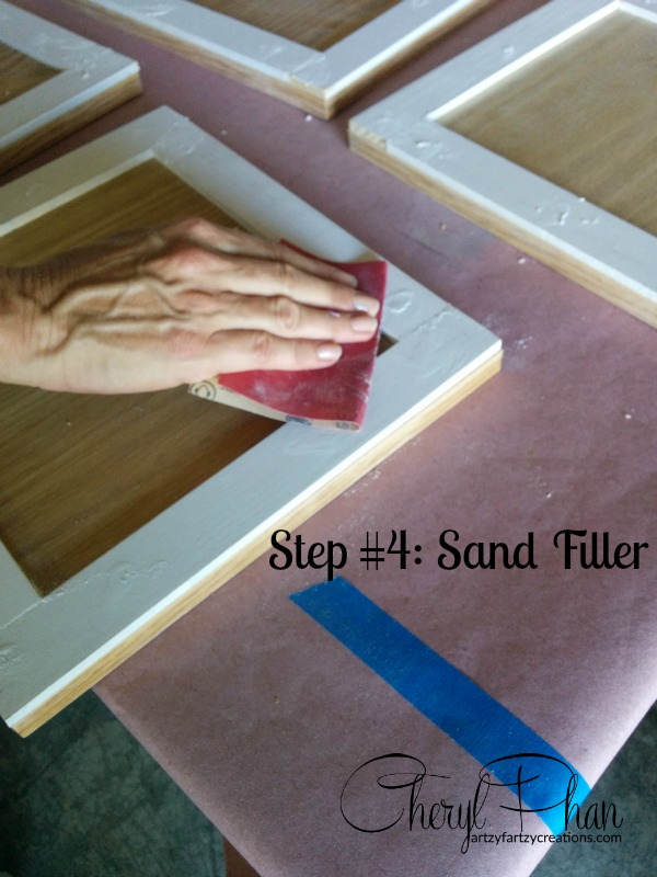 Step 4 sand filler signiture