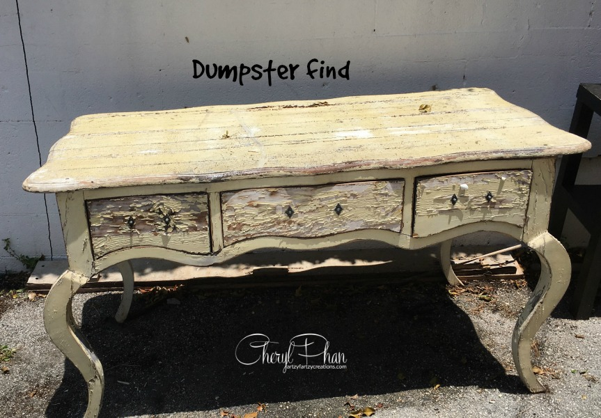 Dumpster table Before