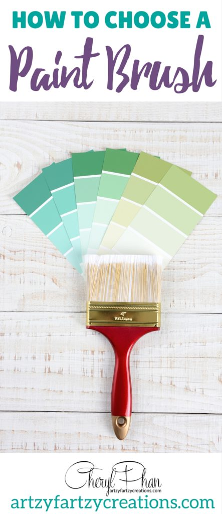 How to Choose the right paint brush | Painting tips by Cheryl Phan of ArtzyFartzyCreations.com