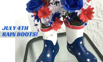 July 4th Rain Boots