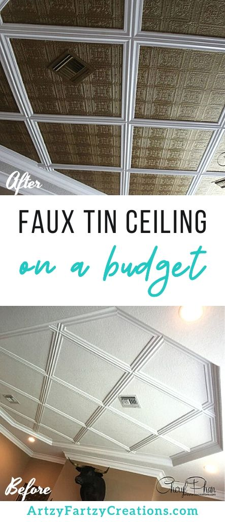 Faux Tin Ceiling on a Budget