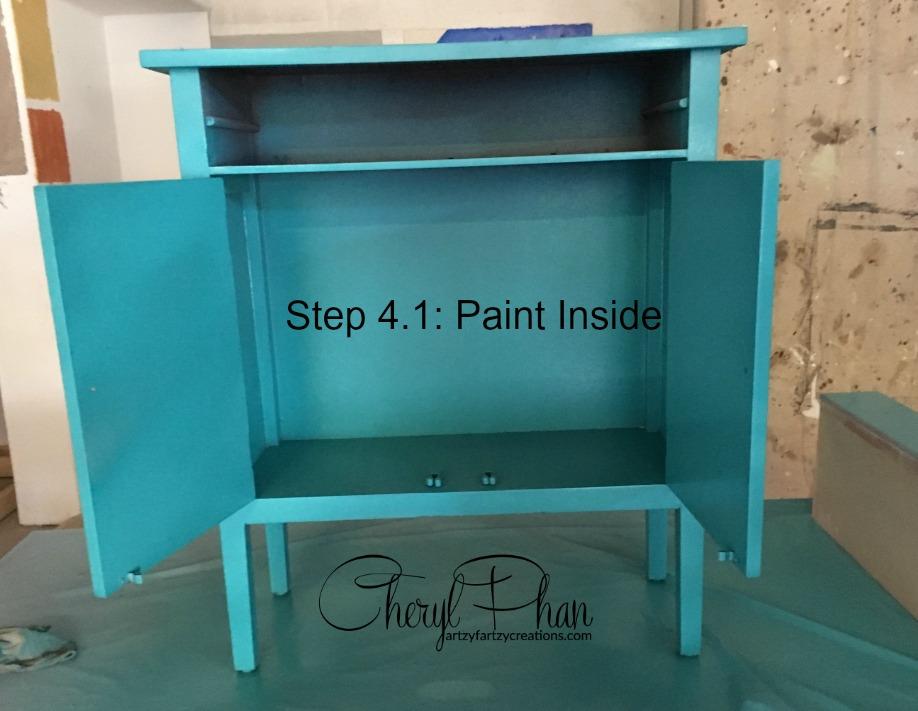 Step 4.1 paint inside