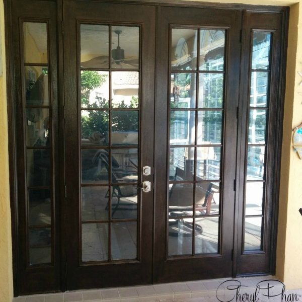 Faux Wood Grained Doors