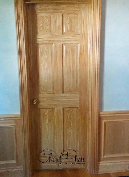 Faux Oak Door