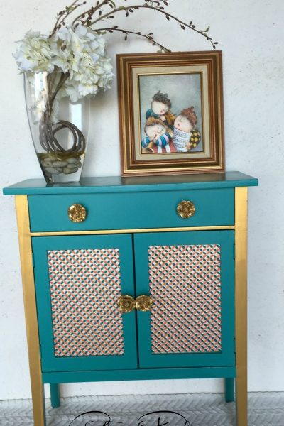 Gold & Teal Decorative Table
