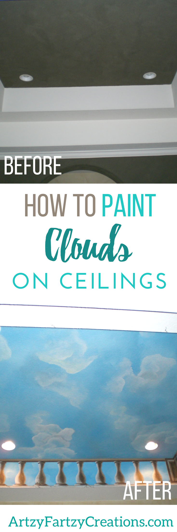 How to Paint Cloud Ceilings | Faux Finish | Decorative Painting ...