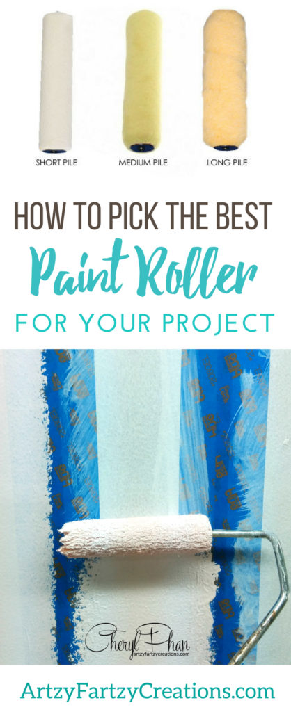 How to choose the right paint roller | Painting Tips by Cheryl Phan of ArtzyFartzyCreations.com