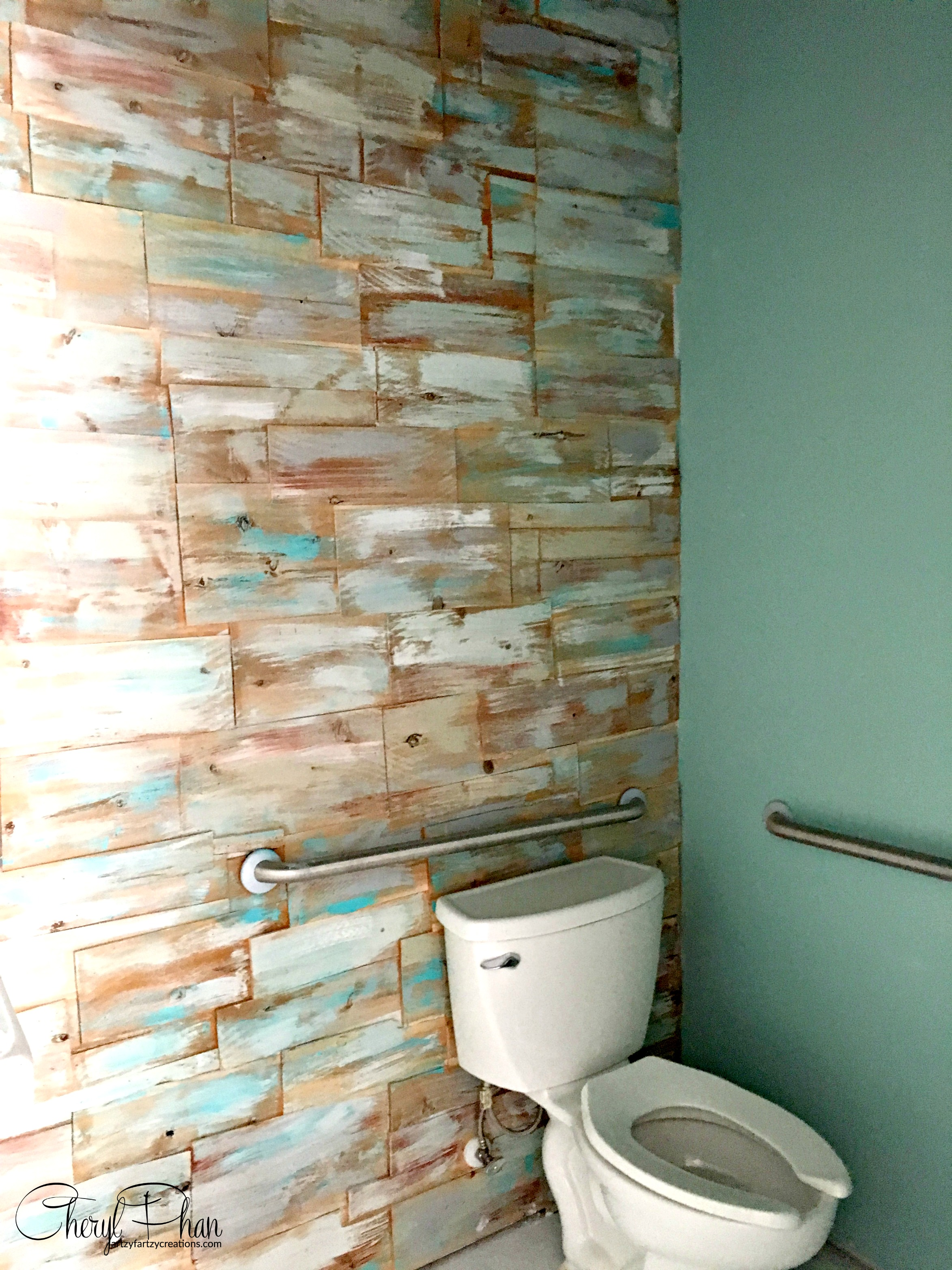 DIY Cedar Wood Accent Wall