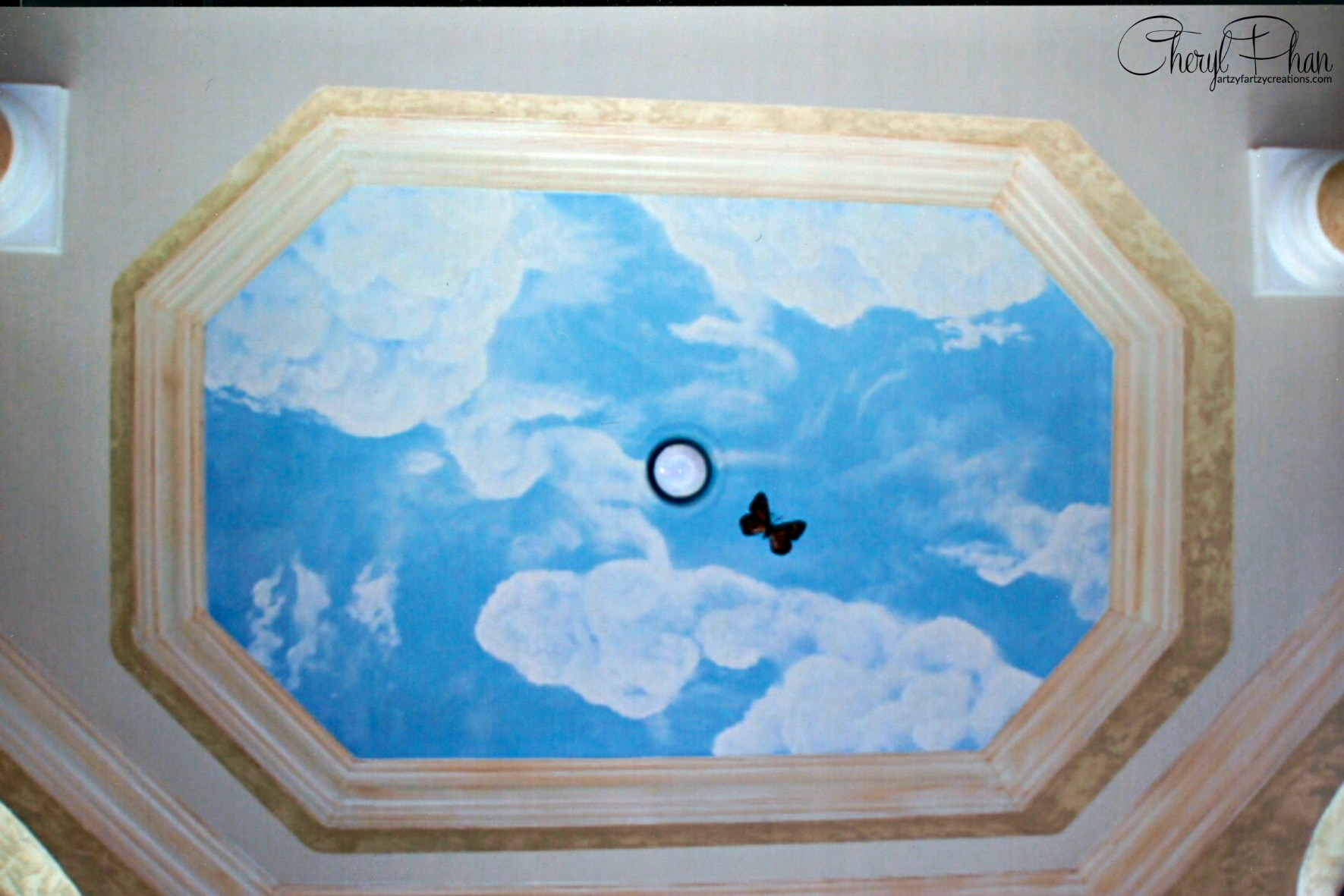 Painted Clouds on Ceilings & Walls | Cheryl Phan