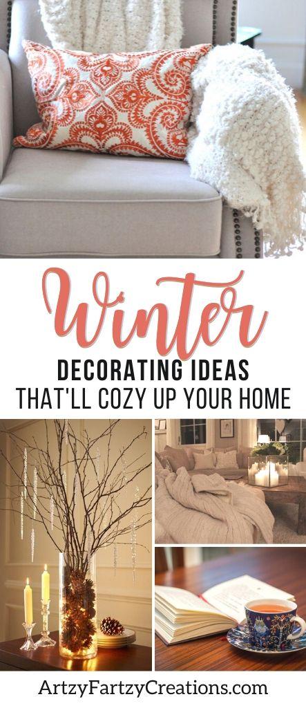 Winter decorating ideas by Cheryl Phan_ArtzyFartzyCreations.com