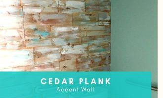 DIY Cedar Wood Accent Wall_Cheryl Phan_ArtzyFartzyCreations.com