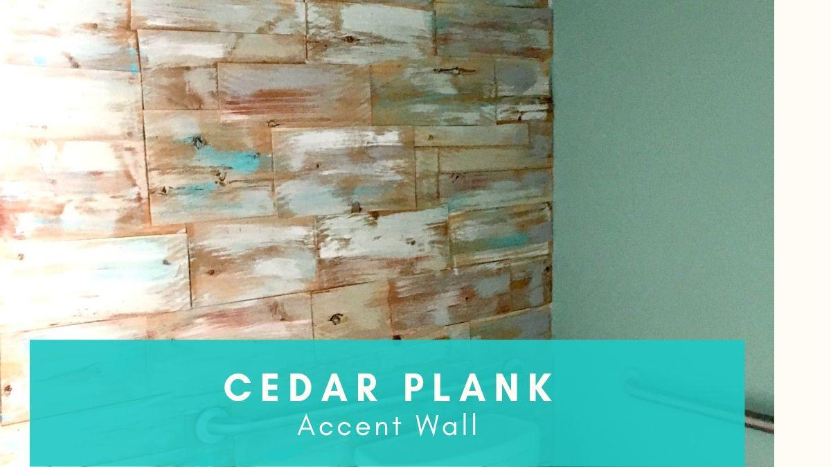 DIY Cedar Wood Accent Wall
