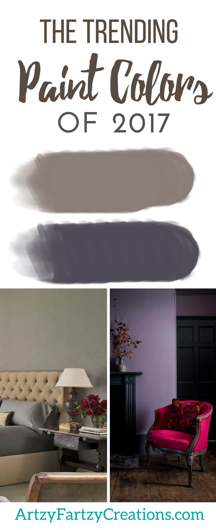 Paint Color of the Year | Paint Colors of 2017 | Shadow vs Poised Taupe | Cheryl Phan of ArtzyFartzyCreations.com