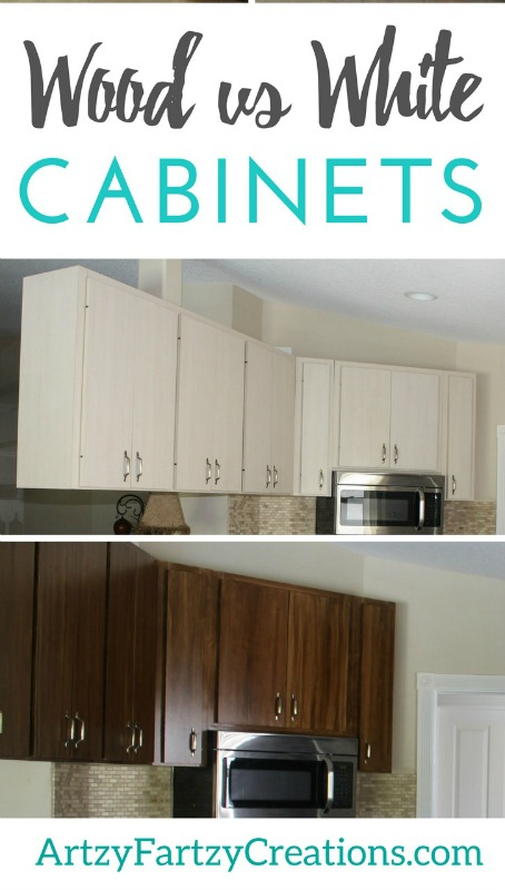 Wood or White Cabinets…..The Million Dollar Question