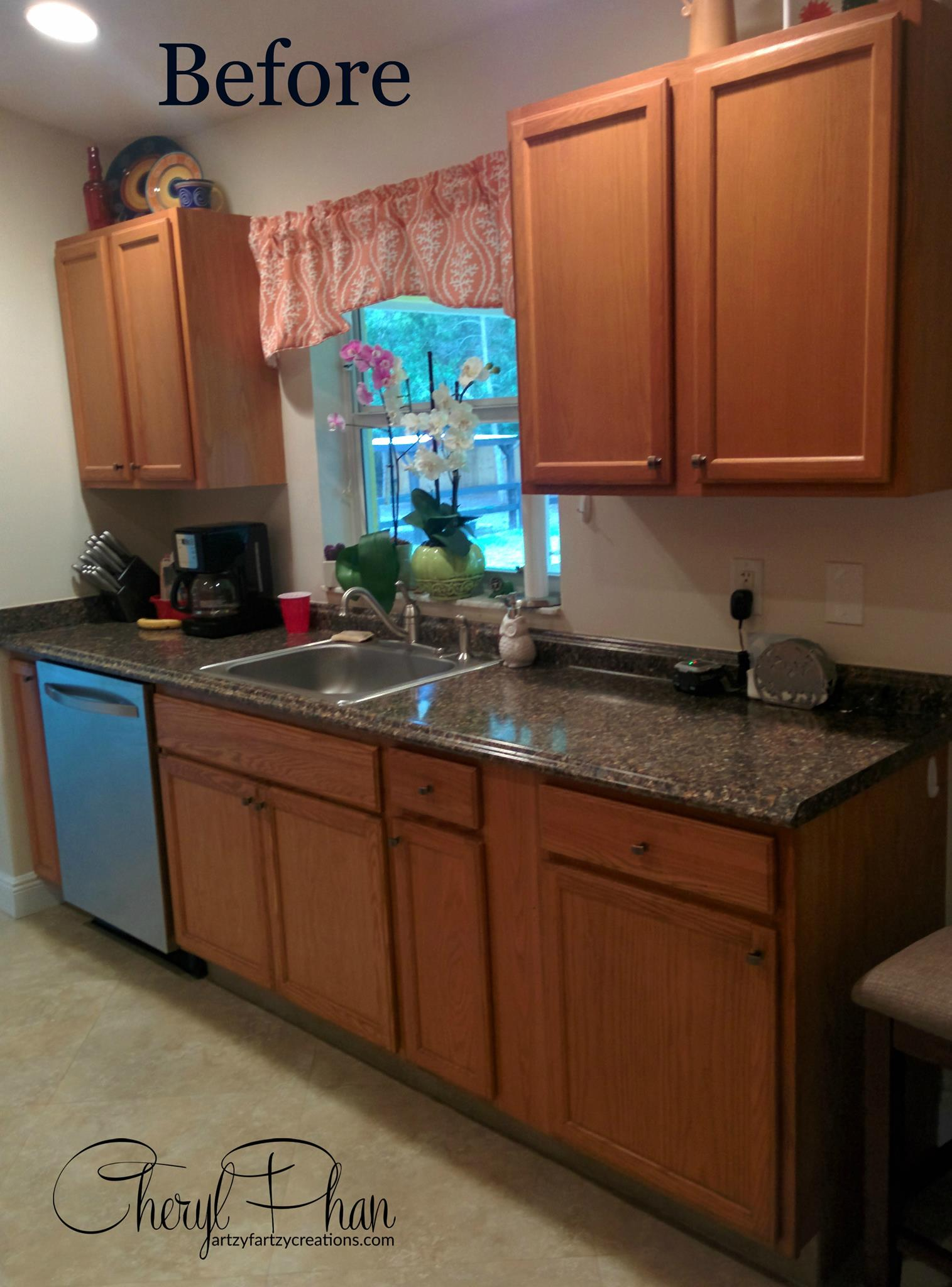 I Think The Gest Reason For White Cabinets Is It S Much Er To Paint Your Existing Than Replace Them Or Use Faux Wood If
