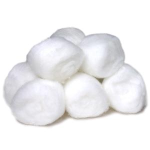 Latex vs Oil Paint: Cotton Balls