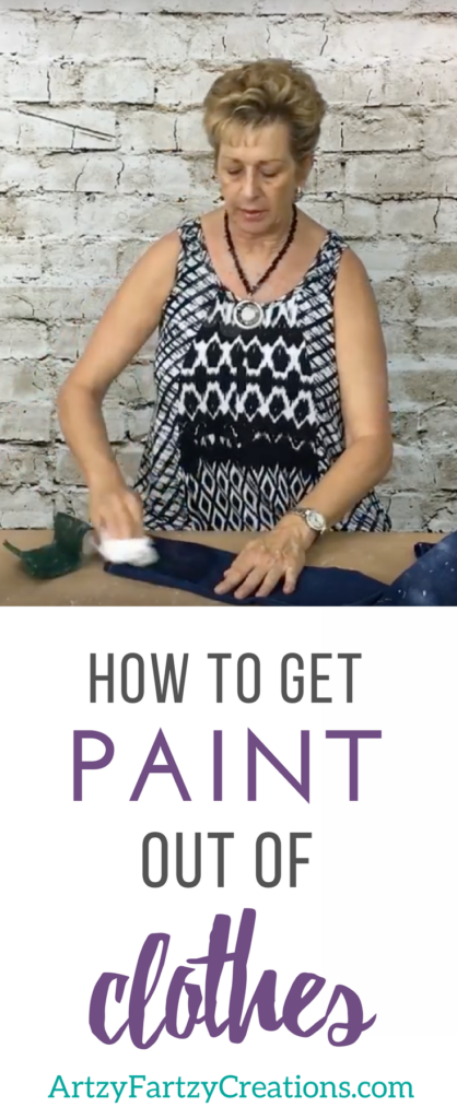How to get paint out of clothes | Paint Stains | Painting Tips by Cheryl Phan