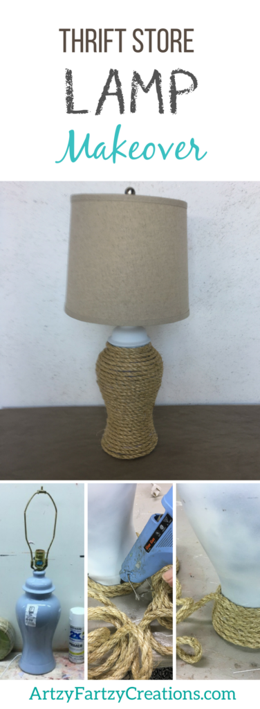 Thrift Store Lamp Makeover Ideas by Cheryl Phan | DIY Home Decor | Nautical Rope Lamp | Easy Lamp Updates