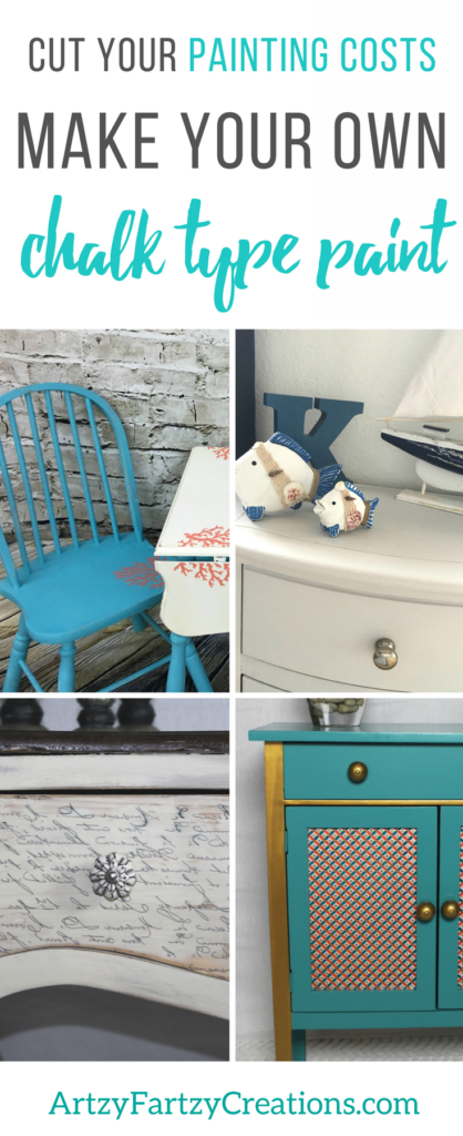 How to Make you Own Chalk Paint   Furniture Painting Tips by Cheryl Phan