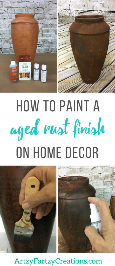 How to paint an aged rust finish on home decor | Faux Finish and Painting Tips by Cheryl Phan
