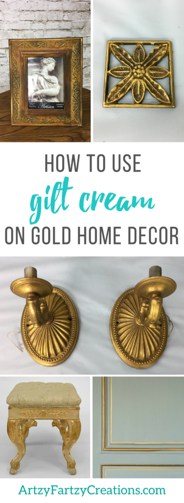 How to use gilt cream to make gold home decor | Painting tips by Cheryl Phan