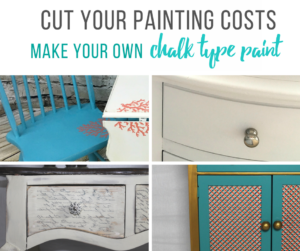 How to Make you Own Chalk Paint & Colored Chalk Type Paints | Furniture Painting Tips by Cheryl Phan