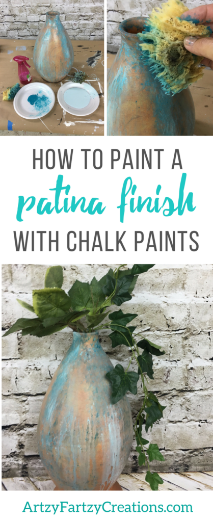 How to paint an authentic patina finish with chalk paints | Painting Tips by Cheryl Phan | Painted Home Decor Ideas + Patina DIY