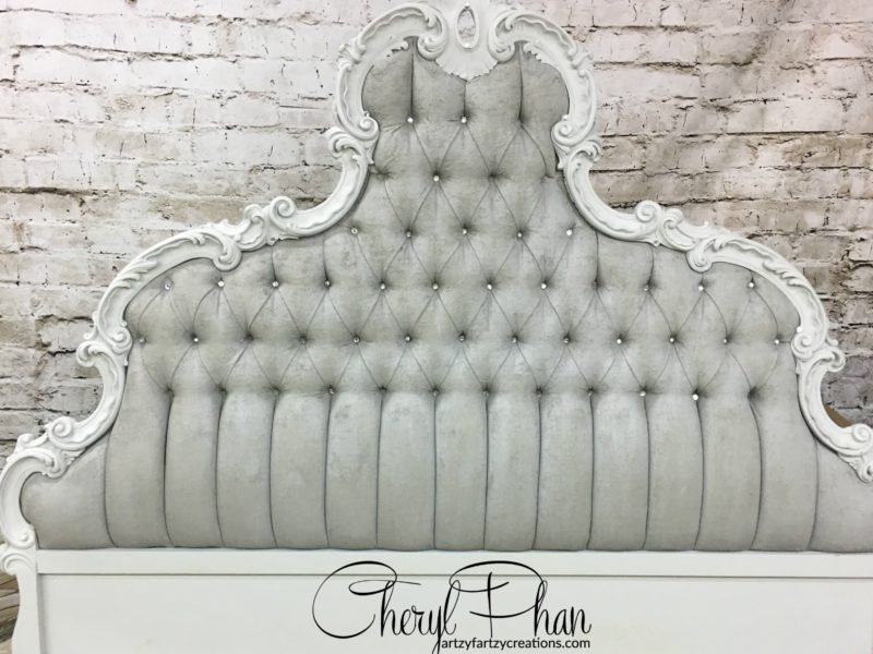 Headboard Up-cycled with chalk paint