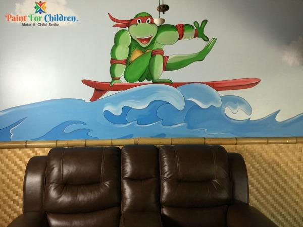Ninja Turtle Surfing