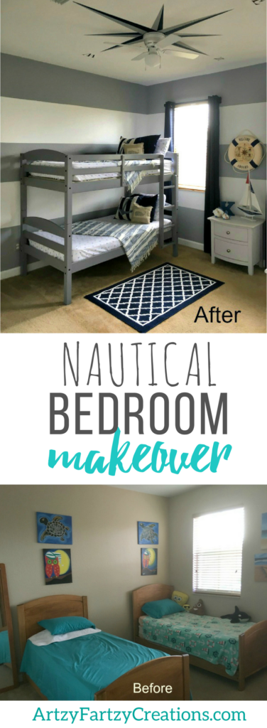 Nautical-themed Bedroom Makeover | Coastal Decorating Ideas & Nautical Bedroom Design | Boys Bedroom Ideas | Cheryl Phan