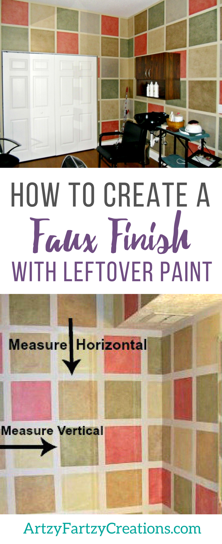 How to Faux Finish with Leftover Paint | Budget-friendly Decorating Ideas by Cheryl Phan | Accent Wall | Feature Wall | Rag Off Faux Finish