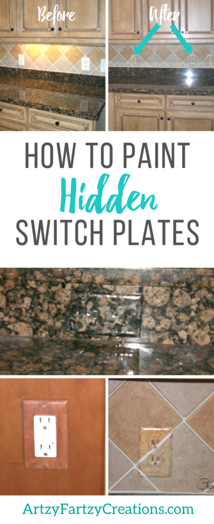How to Paint Hidden Switch Plates, Outlets and Socket Covers in the Kitchen by Cheryl Phan