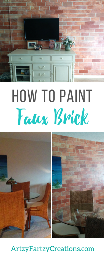 How to Faux Finish Brick by Cheryl Phan| Painted Feature Wall Ideas | Focal Wall | Faux Finish | Fake Brick