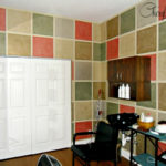 Rag Off Faux Finish - Painted Squares with Leftover Paint Cheryl Phan 1
