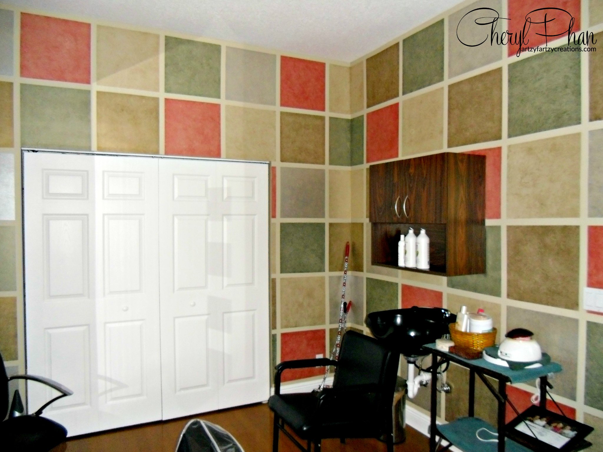 Create A Fun Faux Finish with Leftover Paint