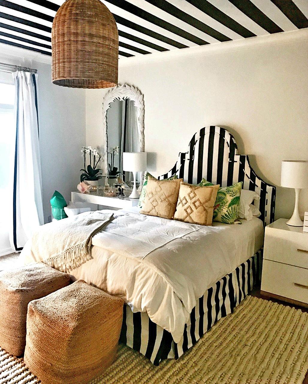 Black & White Striped Ceiling