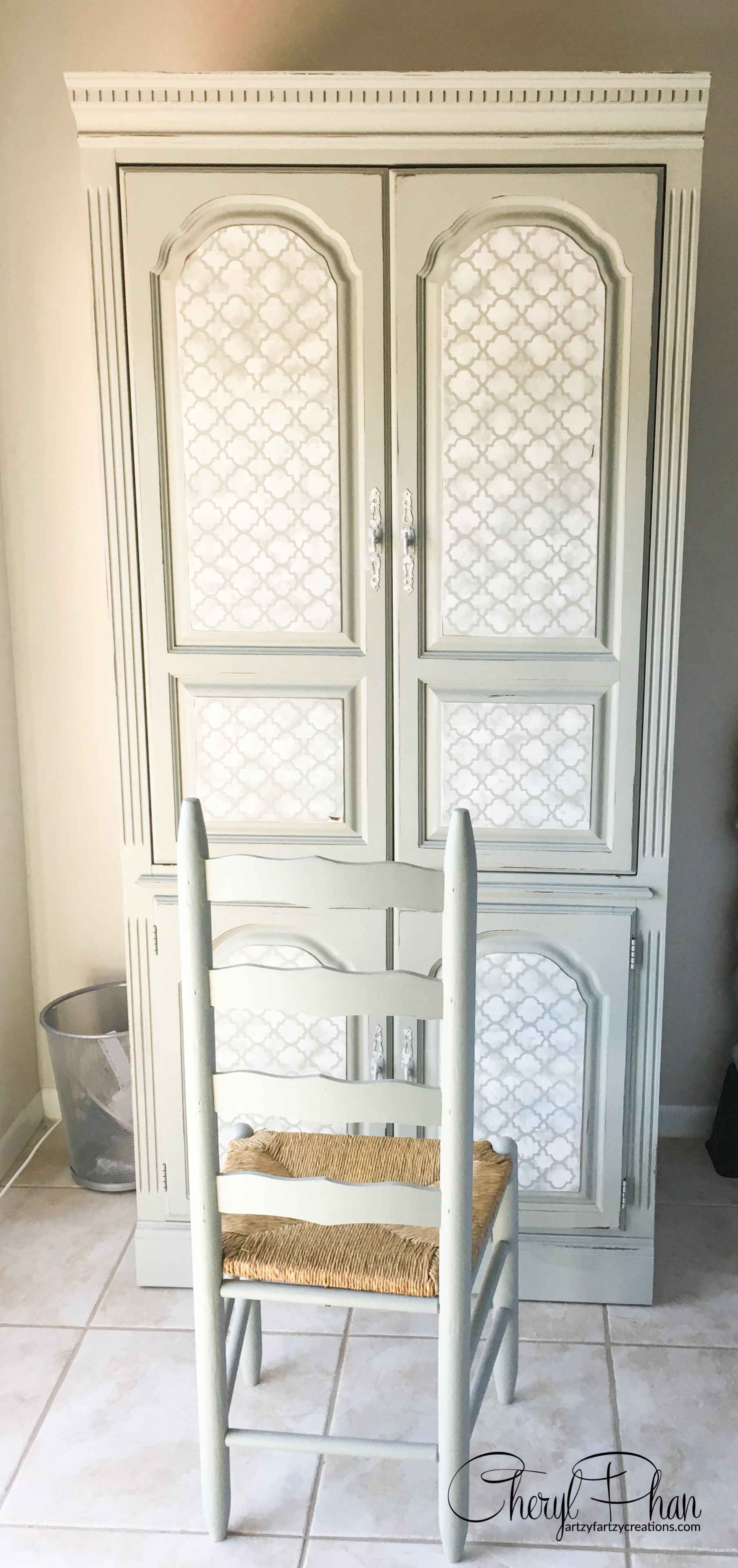 Office in an Armoire by Cheryl Phan