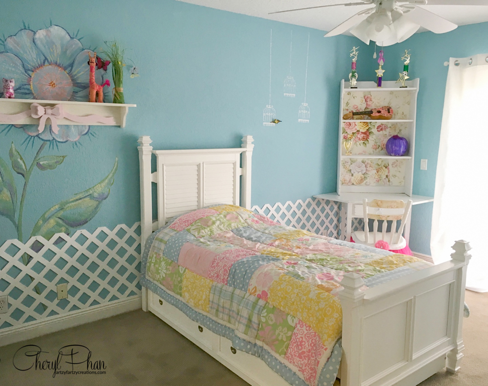A Garden-themed Girls Bedroom Makeover